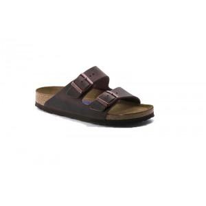 Birkenstock 452761M - Men's - Arizona Oiled Nubuck, Soft Footbed - Habana (Regular Width)