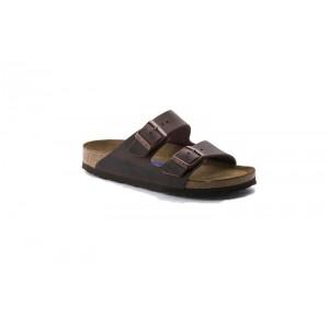 Birkenstock 452763M - Men's - Arizona Oiled Nubuck, Soft Footbed - Habana (Narrow Width)