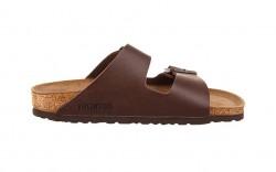 Birkenstock - Men's - Arizona Dark Brown Birko-Flor - 51701 (Regular Width)