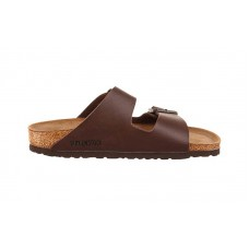 Birkenstock - Women's - Arizona Dark Brown Birko-Flor - 51701 (Regular Width)