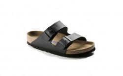 Birkenstock 551251 - Women's - Arizona Birkoflor Soft Footbed - Black (Regular Width)