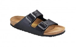 Birkenstock 552113M - Men's - Arizona Oiled Leather - Black (Narrow Width)