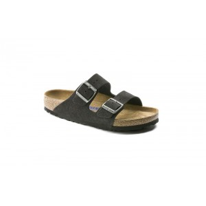 Birkenstock 552323M - Men's - Arizona Suede Leather Soft Footbed - Velvet Gray (Narrow Width)