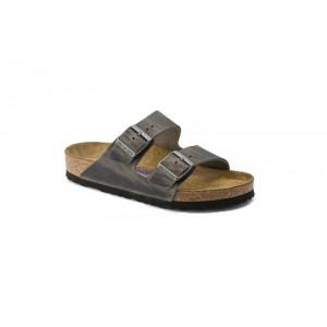 Birkenstock 552801M - Men's - Arizona Oiled Nubuck, Soft Footbed - Iron (Regular Width)