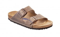 Birkenstock 552813M - Men's - Arizona Oiled Nubuck, Soft Footbed - Tobacco Brown (Narrow Width)