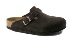 Birkenstock 660461 - Men's - Boston Soft Footbed - Suede Mocha (Regular Width)
