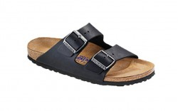 Birkenstock 752481M - Men's - Arizona Oiled Nubuck, Soft Footbed - Black (Regular Width)
