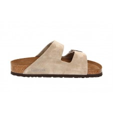 Birkenstock - Men's - Arizona Soft Footbed Taupe Suede - 951301 (Regular Width)