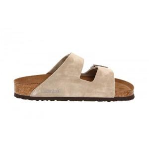 Birkenstock - Women's - Arizona Soft Footbed Taupe Suede - 951303 (Narrow Width)
