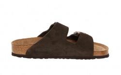 Birkenstock - Women's - Arizona Soft Footbed Mocha Suede - 951311 (Regular Width)