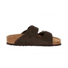 Birkenstock - Men's - Arizona Soft Footbed Mocha Suede - 951313 (Narrow Width)