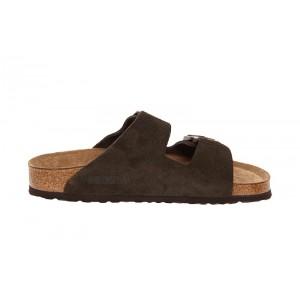 Birkenstock - Women's - Arizona Soft Footbed Mocha Suede - 951313 (Narrow Width)
