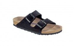Birkenstock 951321M - Men's - Arizona Suede Leather Soft Footbed - Black (Regular Width)