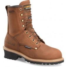 """Carolina CA4821 - Men's - 8"""" Insulated Waterproof Soft Toe Logger - Copper"""
