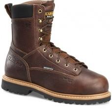 """Carolina CA9585 - Men's - 8"""" Waterproof D3O Internal Met Guard Comp Toe Work Boot - Brown"""