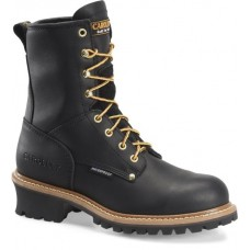 Carolina CA9823 - Men's - 8 Inch Waterproof Steel Toe Logger - Black