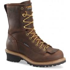 Carolina CA9824 - Men's - 8 Inch Waterproof Lace to Toe Steel Logger - Copper
