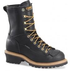 Carolina CA9825 - Men's - 8 Inch Waterproof Lace to Toe Steel Logger - Black