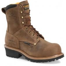 """Carolina CA9852 - Men's - 8"""" Waterproof Composite Toe Logger - Brown"""