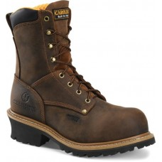 "Carolina CA9853 - Men's - 8"" Composite Toe Logger - Brown"