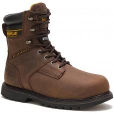"""Caterpillar P89785 - Men's - Salvo 8"""" Waterproof Steel Toe - Dark Brown"""