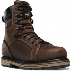 """Danner 12535 - Men's - 8"""" Steel Yard 400G Insulation Steel Toe - Brown"""