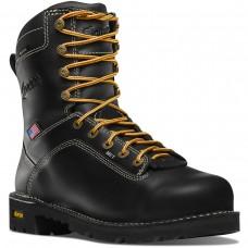 """Danner 17310 - Men's - 8"""" Quarry USA Met Guard Alloy Toe - Black"""