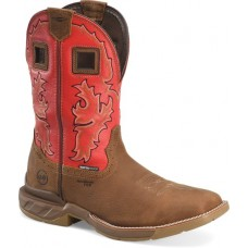 """Double H DH5358 - Men's - 11"""" Henly Wide Square Composite Toe Roper - Red Brown"""