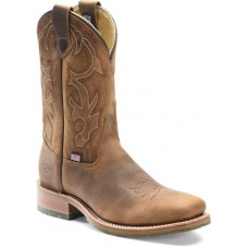 """Double H DH4637 - Men's - 11"""" Domestic Steel Toe Wide Square Roper - Old Town Folklore"""