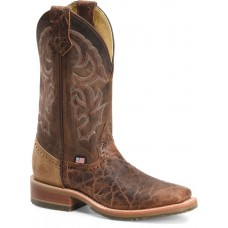 """Double H DH4645 - Men's - 12"""" Harshaw Wide Square Toe I.C.E Roper - Brown"""