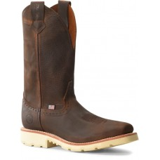 """Double H DH4648 - Men's - 12"""" Wooten Wide Square Toe Roper - Brown"""