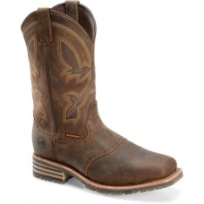 """Double H DH5124 - Men's - 11"""" Waterproof Wide Square Composite Toe ICE™ Roper - Tan"""