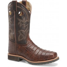 """Double H DH5225 - Men's - 12"""" Wide Square Steel Toe Roper - Chocolate"""