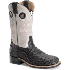 """Double H DH5230 - Men's - 12"""" Wide Square Steel Toe Roper - White and Brown"""