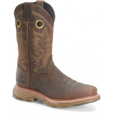 """Double H DH5241- Men's - 12"""" Waterproof WorkFlex MAX Wide Square Composite Toe Work Western - Brown"""
