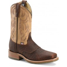 """Double H DH5305 - Men's - 11""""Bison Square Toe Roper Steel Toe - Briar/Echo Taupe"""