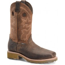 """Double H DH5353 - Men's - 12"""" Abner Waterproof Square Composite Toe Roper - Brown"""