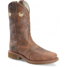 """Double H DH6134 - Men's - 13"""" Wide Square Composite Toe Work Western - Rust"""