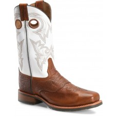 """Double H DH7003 - Men's - 12"""" Men's Wide Square Safety Toe Work Western - Cognac/Natural"""