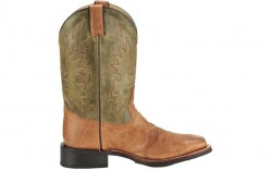 Double H DH3571 - Men's - 11 Inch Wide Square Roper - Cognac/Olive