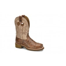 """Double H DH7008 - Women's - 10"""" Steel Toe Square Roper - Camel"""
