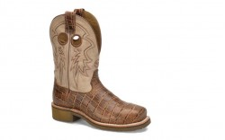 "Double H DH7008 - Women's - 10"" Steel Toe Square Roper - Camel"