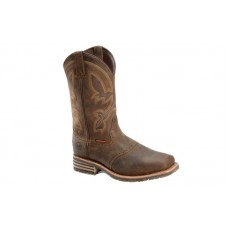 "Double H DH4124 - Men's - 11"" Jeyden Waterproof Wide Square Toe Roper - Brown"