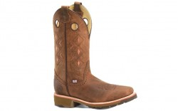 """Double H DH4641 - Men's - 12"""" Sheffield Wide Square Toe Roper - Brown"""