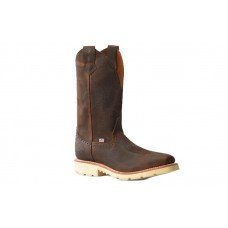 "Double H DH4649 - Men's - 12"" Wooten Wide Square Steel Toe Roper - Brown"