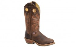 "Double H DH5316 - Women's - 12"" Arvada Round Toe I.C.E Buckaroo - Brown"