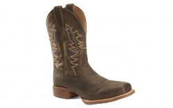 "Double H DH6014 - Men's - 11"" Orin Wide Square Toe Roper - Brown"
