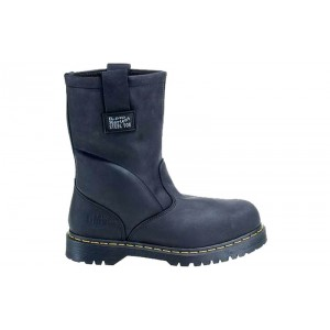 Dr. Martens R13397001 - Men's - 2295 Safety Toe 10-Inch Wellington Extra Wide Black