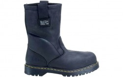 Dr. Martens R13397001 -Women's - 2295 Safety Toe 10-Inch Wellington Extra Wide Black