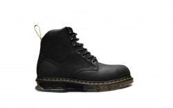 Dr Martens R24334001 - Men's - Britton Steel Toe 7 Tie Boot - Black
